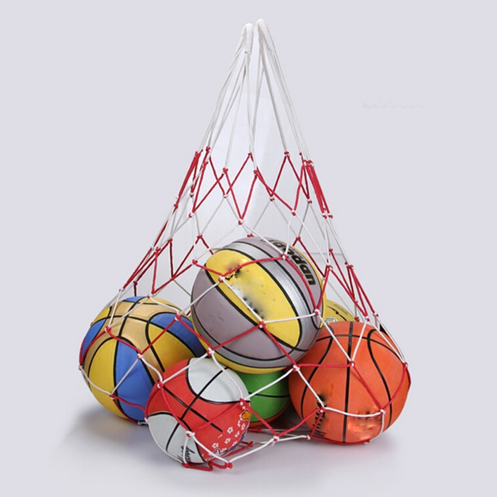 Сетчатая Сумка для переноски, Сетчатая Сумка Для Переноски 10 мячей, портативная спортивная сумка для спорта, баскетбола, волейбола, 1 шт.-0