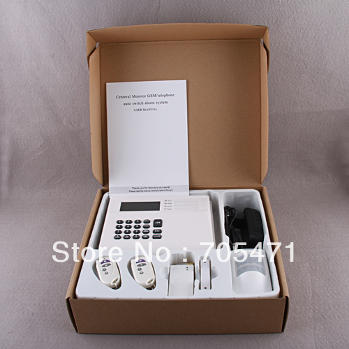 For Home Security Land line Alarm System Wire Wireless Detector