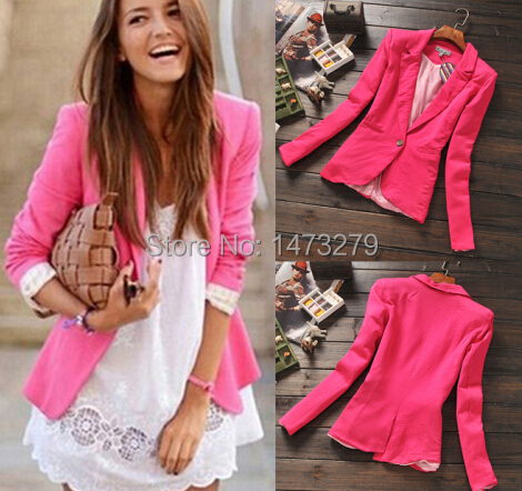 Hot Pink Womens Blazer - Best Blazer 2017