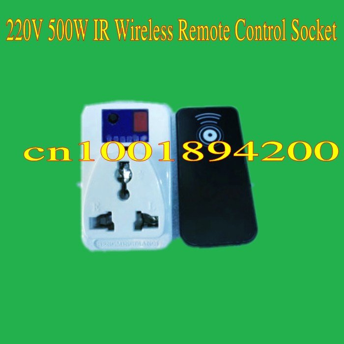 220V 10A 500W Wireless remote control socket plug (1 socket & 1 controller ) Learning co ...