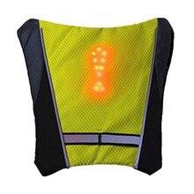Светоотражающий защитный жилет на открытом воздухе водостойкий 48 светодио дный указатель поворота жилет на открытом воздухе бег/ночь прогулки/велоспорт жилет пальто