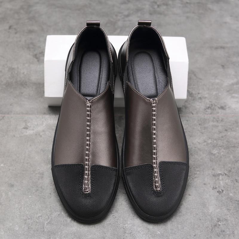 수제 남자 신발 고품질의 가죽 캐주얼 운전 - 남성용 신발 - 사진 3