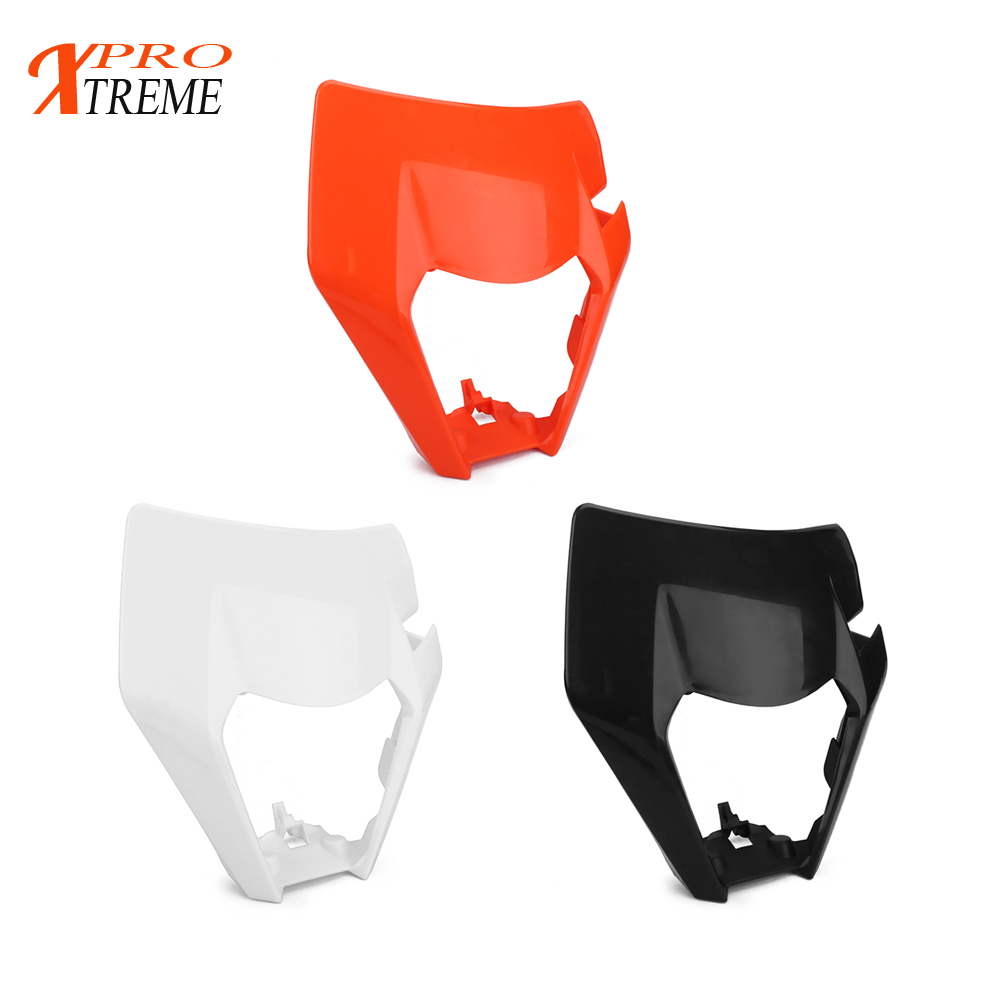 Motorcycle Plastic Mask 2016 2017 16 17 Headlight Headlamp Cover Guard For KTM White Black Orange