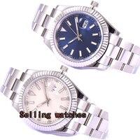 Reloj clásico Parnis 40mm para hombre  lupa con fecha luminosa  cristal de zafiro  movimiento automático  reloj para hombre