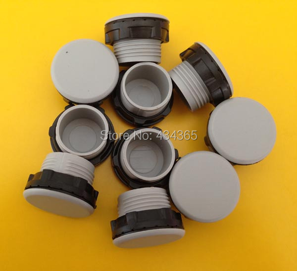 500pcs  22mm mounting hole plastic PT Thread Gray/Black Plastic Button Switch Panel Plug Cover usb3 0 round type panel mounting usb connecter silver surface