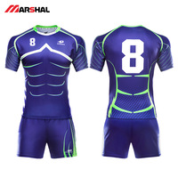 Professional design men's Rugby jersey quick dry breathable rugby shirts costom