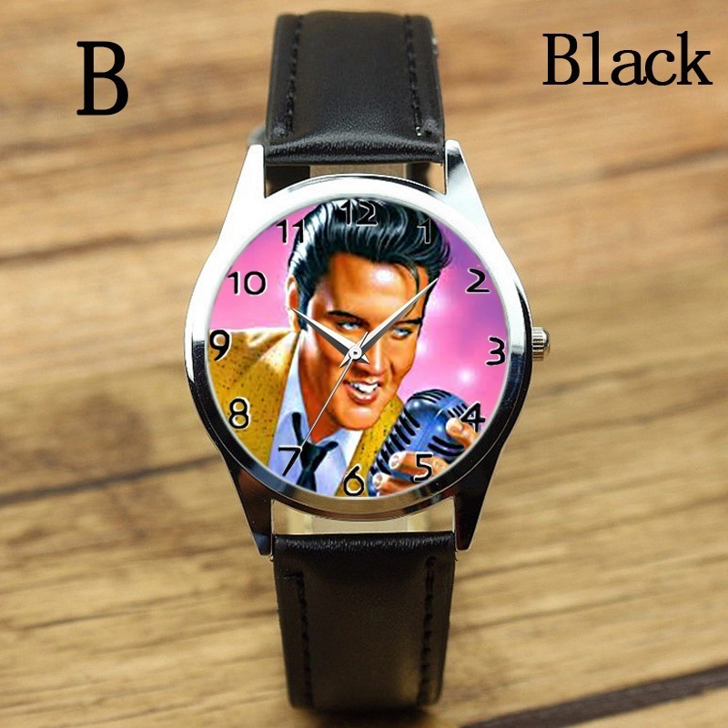 New Fashion Elvis Presley Watches Women Man Quartz Watch Female Elegant Dress Watch Steel Belt Boys Gilr Clock