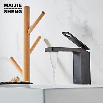 single hole oil black basin faucet bathroom waterfall mixer sink water faucet black tap bathroom waterfall tap