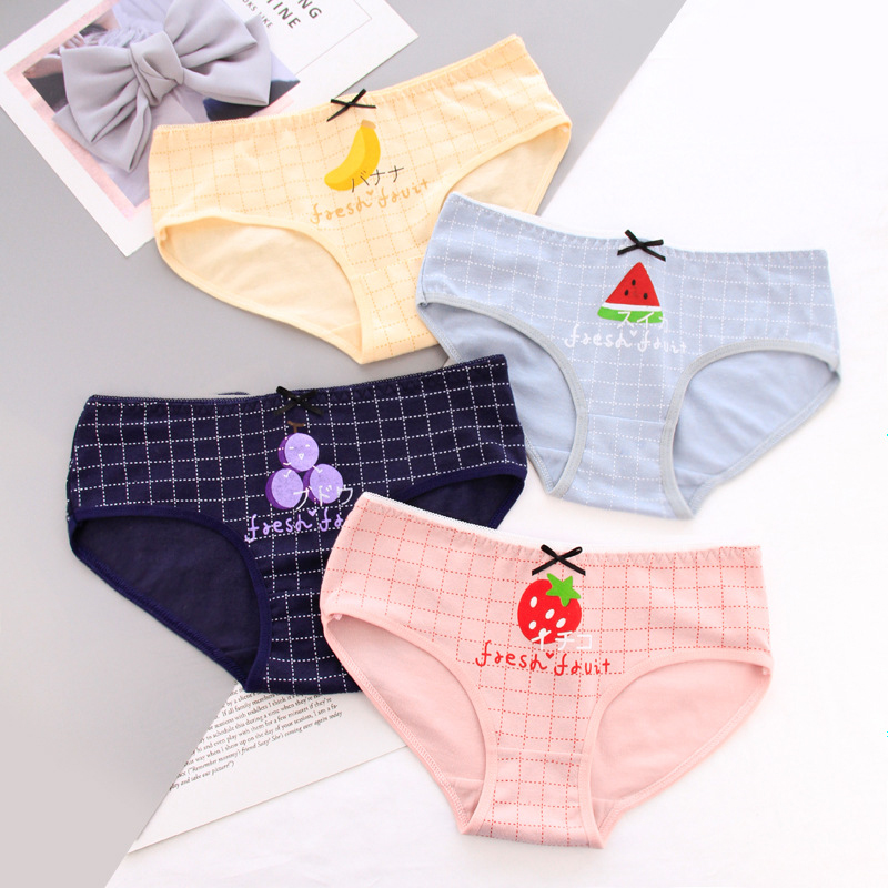 SP&CITY Cartoon Girl Cute Underwear Women Fruit Kawaii   Panties   Soft Physical Cotton   Panties   Seamless Briefs Female Lingerie