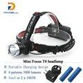 Mini Cree xm-l T6 Headlamp 18650 Rechargeable Headlight waterproof Flashlight Head