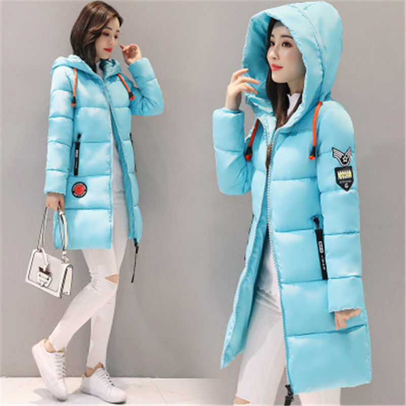 HTB1OR9DKf5TBuNjSspcq6znGFXaG Parka Women 2019 Winter Jacket Women Coat Hooded Outwear Female Parka Thick Cotton Padded Lining Winter Female Basic Coats Z30