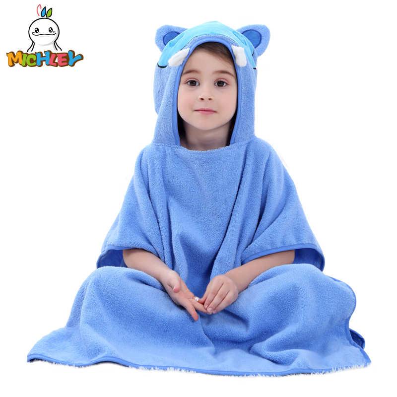 ... MICHLEY Children Bathrobe 2018 Newborn Boy Hooded Cartoon Pajamas Girl  Cute Animal Ear Bath Robe Baby ... 5426087da