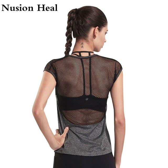 Baru Wanita Yoga Tops Wanita Kemeja Celana Pendek Lengan Yoga Gym kemeja  Wanita Kebugaran Olahraga Pakaian 23edb37de2