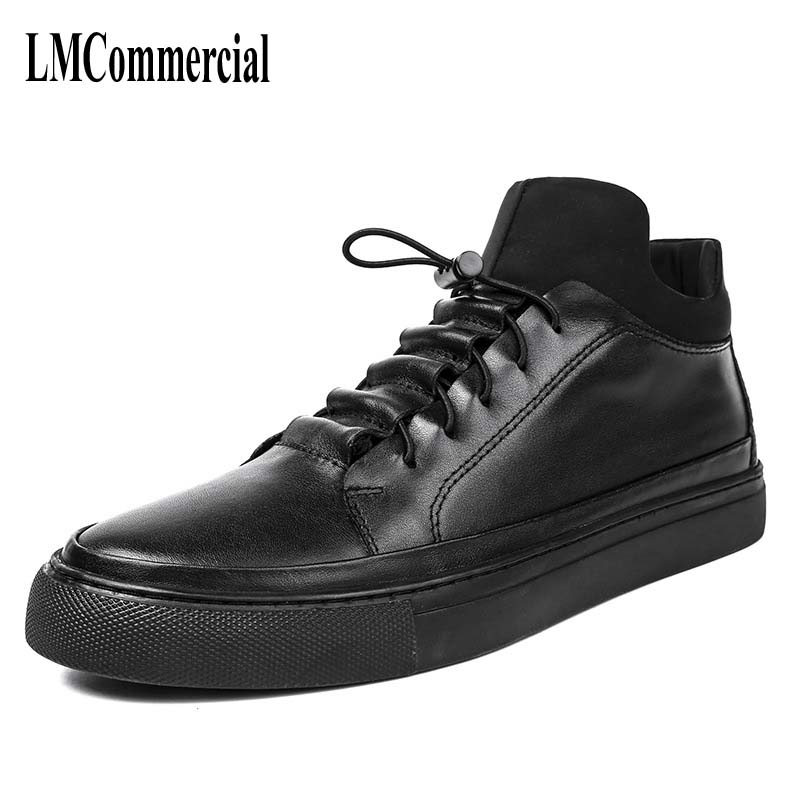 new autumn winter British retro men shoes Men fall high shoes black male British shoes all-match hip-hop personality mulinsen latest lifestyle 2017 autumn winter men