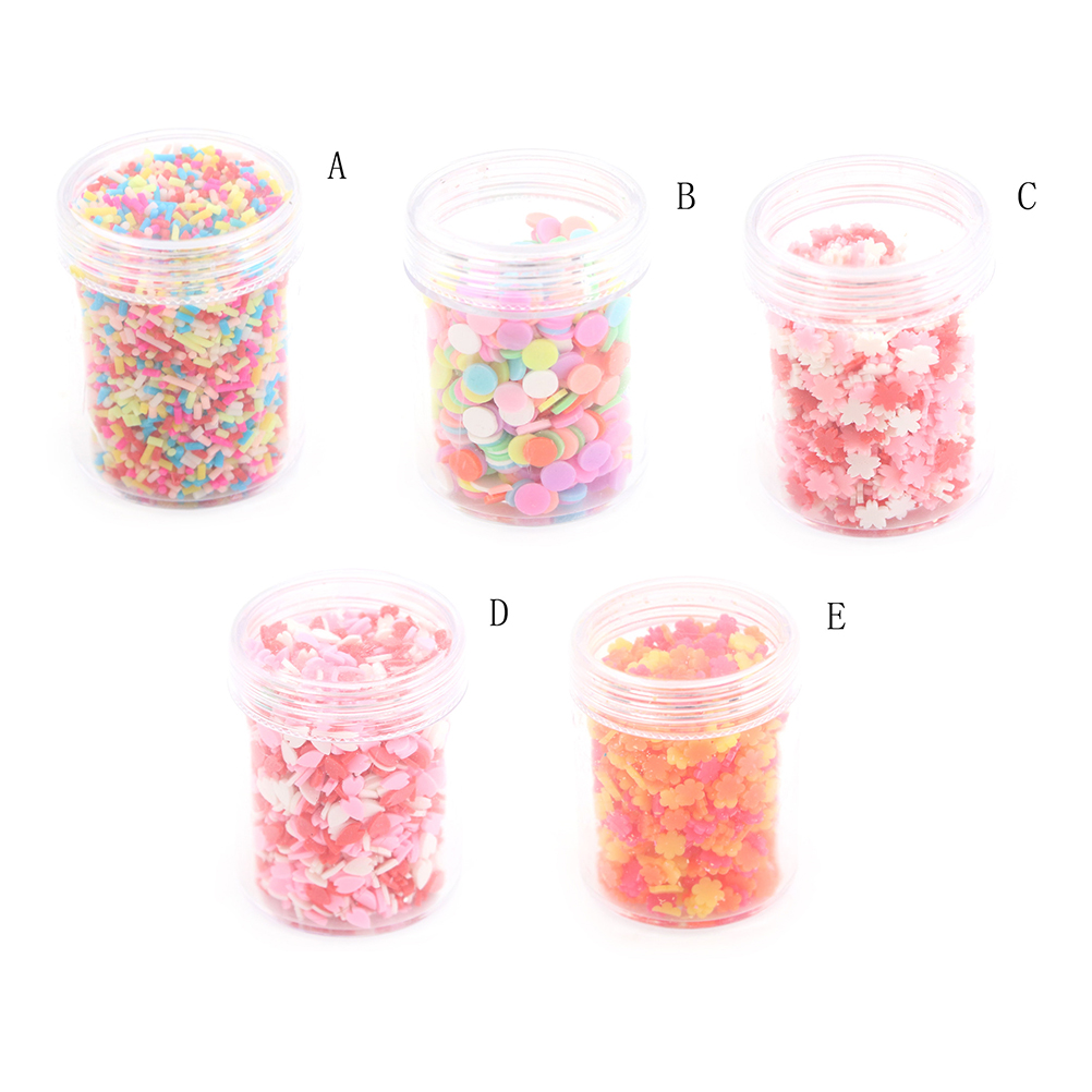 1Box DIY Polymer Clay Fake Candy Sweets Sugar Sprinkle Decorations For Dollhouse Fake Cake Dessert Simulation Food