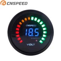 CNSPEED 2 inch 52mm 12V Car Digital Voltmeter Volt Gauge Meter 20 LED Black 7.5 20V Volts Volt Car Meter YC101275