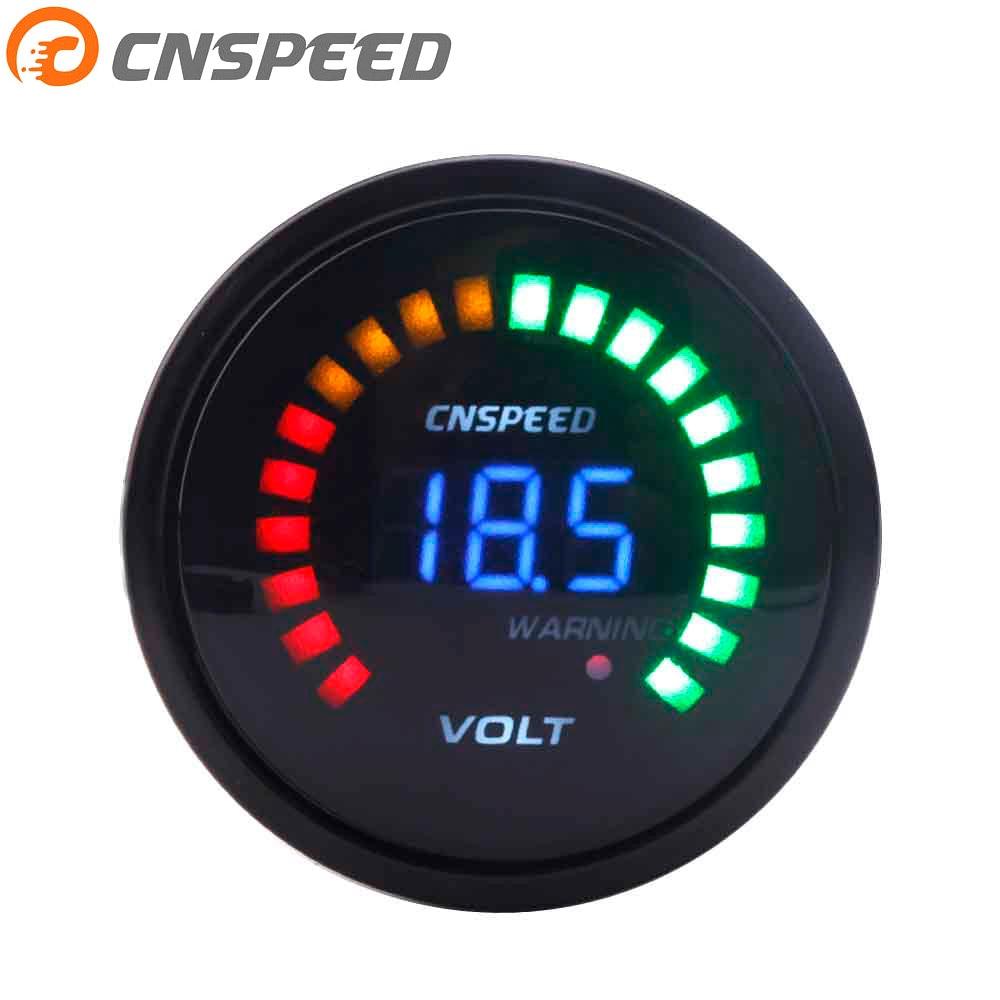 Voltímetro Digital para coche de 2 pulgadas 52mm 12 V, voltímetro de 20 LED NEGRO, 7,5-20 V, voltímetro YC101275