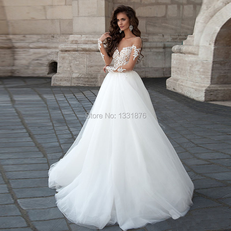 d06422c4a Sexy Backless Ball Gown Wedding Dress Long Sleeves Vestido De Novia ...