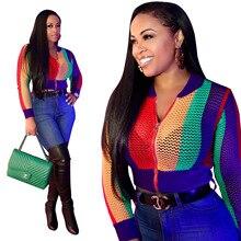 aec7b454dac69 Abrigos Mujer 2018 Bomber Jacket Women Spring Long Sleeve Thin Multicolor  Hole Elegant Jackets Chaquetas Elegantes Para Mujer