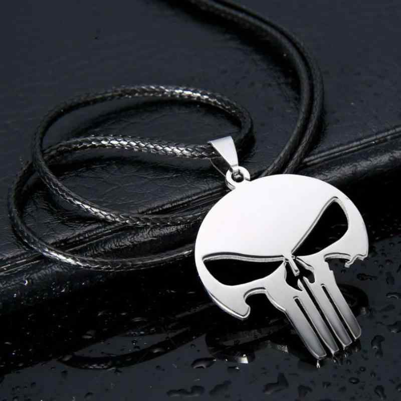 New Fashion Personality Charm Woman, Men's Jewelry Superhero Punishment Skull Dark Knight High-quality Stainless Steel Necklace