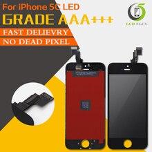 最高のテスト品質 aaa + + + iphone 5C 液晶ディスプレイ pantalla タッチスクリーンデジタイザー交換パーツアセンブリ強化フィルム + ツール
