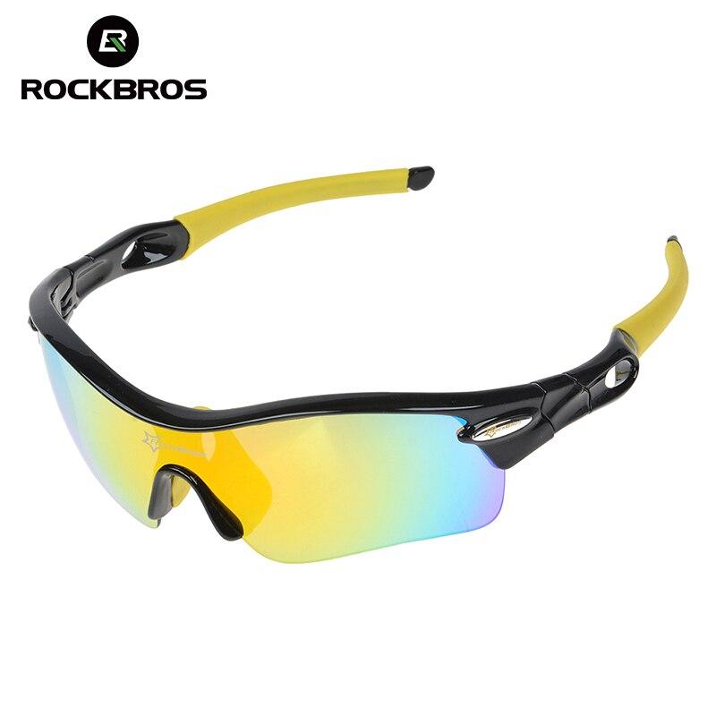 Prix pour Hot! RockBros Polarisé Vélo Lunettes de Soleil Sports de Plein Air de Vélos Lunettes de Vélo lunettes de Soleil TR90 Lunettes Lunettes 5 Objectif, 3 Couleurs