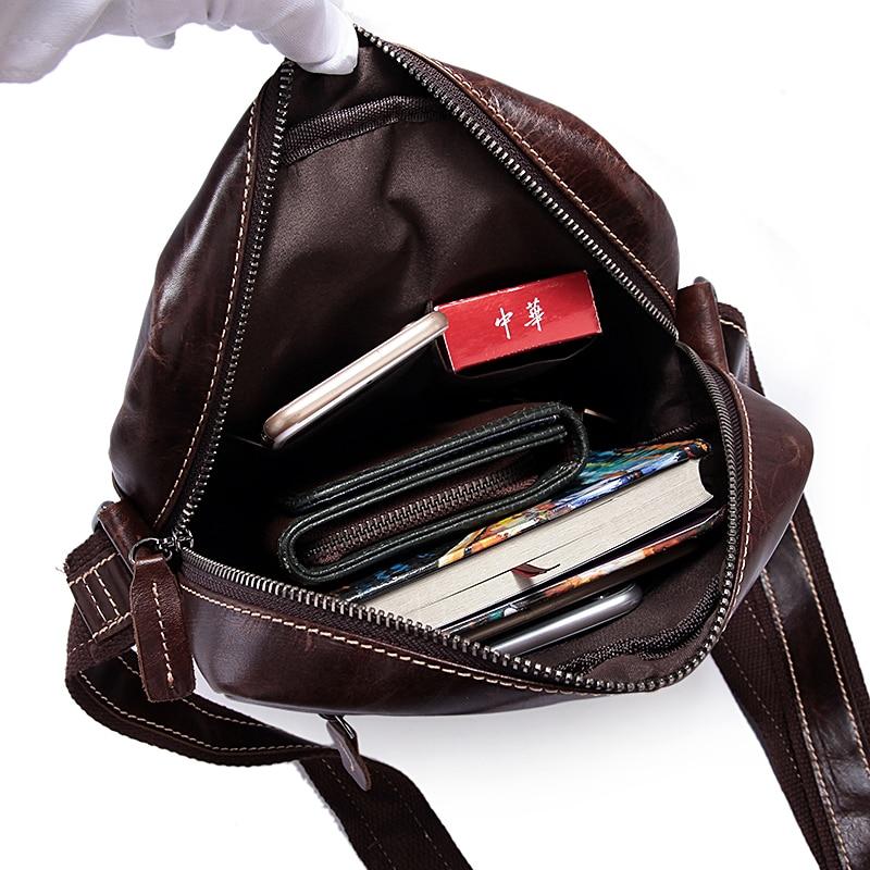MVA Lelaki Bahu Beg Kulit Asli Lelaki Beg Vintage Crossbody Bags - Beg tangan - Foto 6