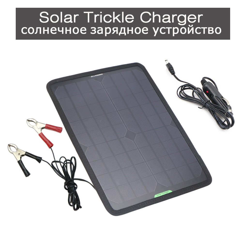 Solar Car Battery Charger Solar Trickle Charger Maintainer for Vehicle 12V Battery Motorcycle Battery and more 12V Devices.