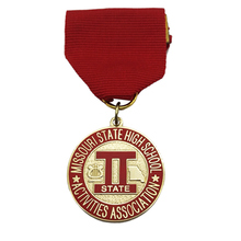 Gold Finish Stamping Brass Custom Souvenir Missouri State High School Medallion for Acticities Association  k 200139