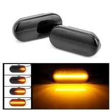 Течет вода автомобиля боковой фонарь Amber светодио дный динамический сигнальные лампы для VW Bora Golf 3 4 Passat 3BG поло SB6 стайлинга автомобилей