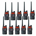 10 PCS Baofeng UV-5RB For Police WalkieTalkie Scanner Radio Dual Band Cb Ham Radio Transceiver UHF 400-470MHz & VHF 136-174MHz
