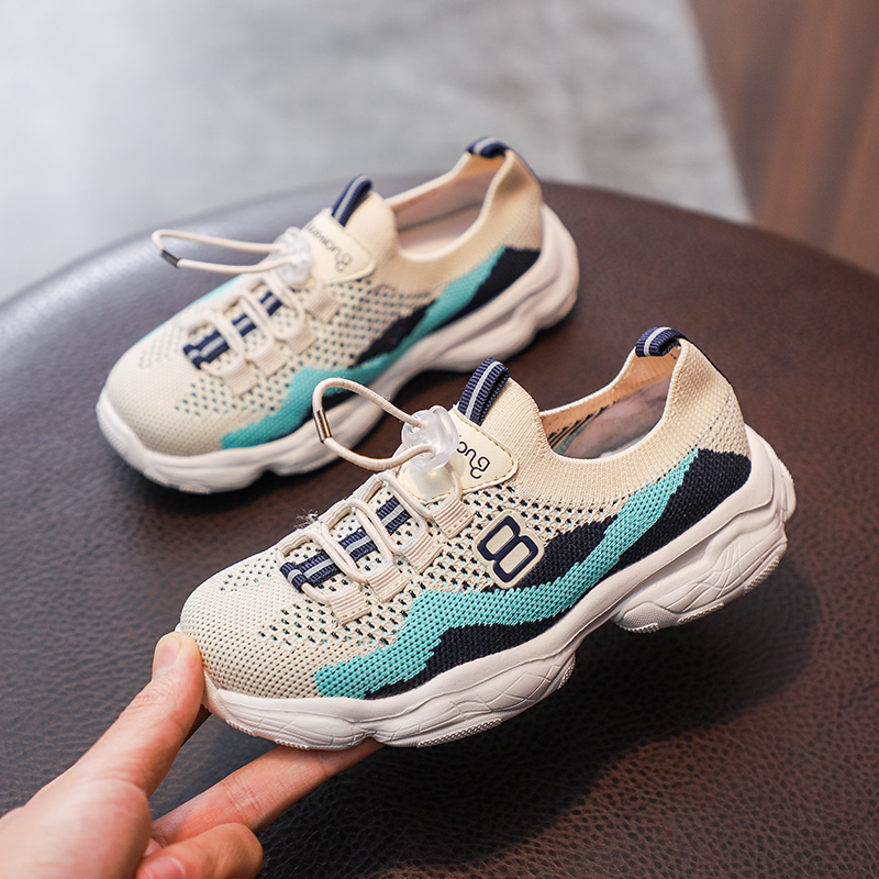 2019 Summer Big Boy Running Shoes Comfortable Girl Sneakers Fashion Shoes for Kids Boys knitting Sock Sport Shoes for Girl