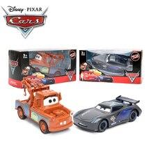 9 см оттягивающийся автомобиль disney Pixar тачки 3 Молния Маккуин матер черный шторм Рамирез 1:55 литая под давлением металлическая игрушка модель подарки для мальчиков
