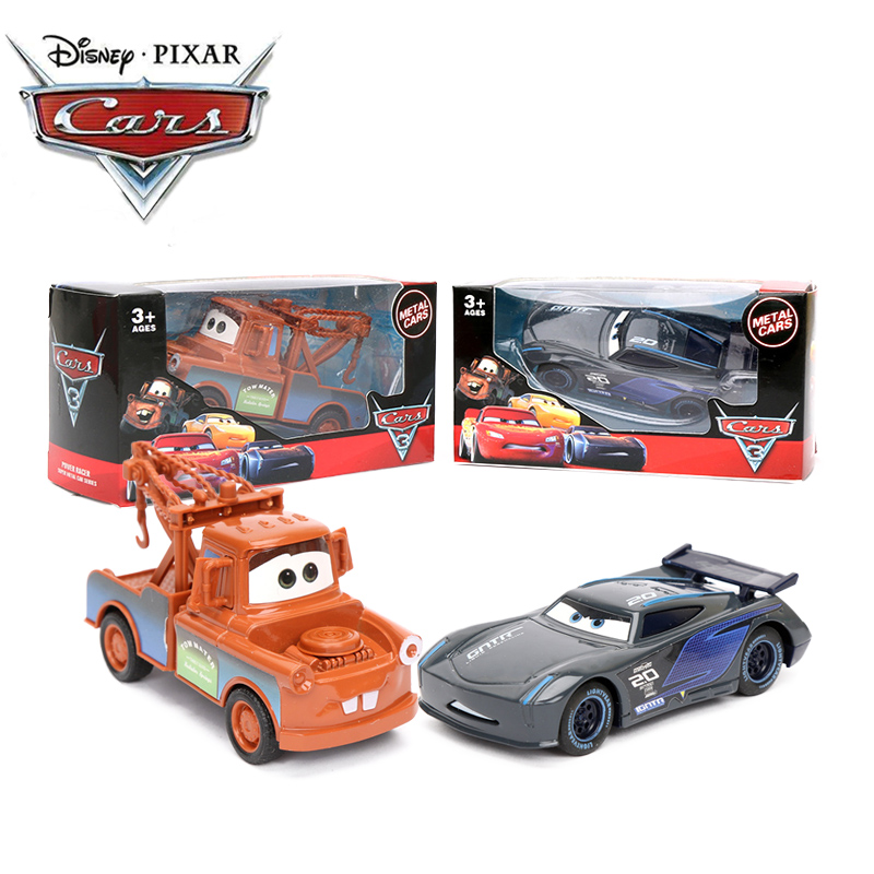 2019 9cm Pull Back Car Disney Pixar Cars 3 Lightning McQueen Mater Black Storm Ramirez 1:55 Diecast Metal Toy Model Boys Gifts