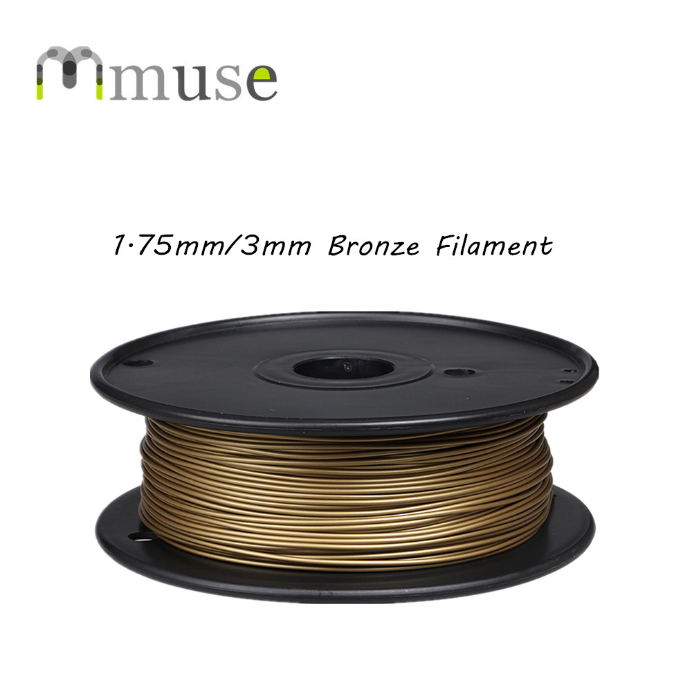 3D Metal Printer Filament Bronze Filament 1.75mm/3mm For Makerbot/Reprap/UP/Mendel 3D Printer Machine 3d printer parts filament for makerbot reprap up mendel 1 rolls filament pla 1 75mm 1kg consumables material for anet 3d printer