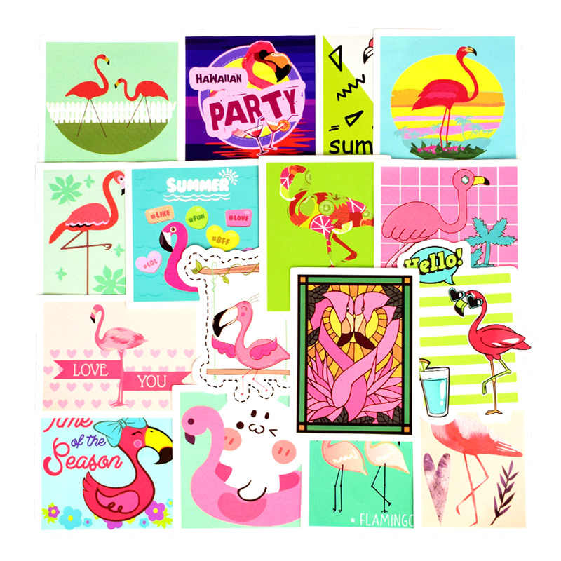 50Pcs Flamingos Aufkleber Für Koffer Skateboard Laptop Handy Motorrad Fahrrad Auto Zubehör Gemischt Rosa Aufkleber