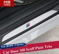 Carro de Aço inoxidável do Peitoril Da Porta Scuff Placa Guardas Sills Aparar Carro para BMW Série 3 F30 F35 320i 316i 2013-2017 Car Styling