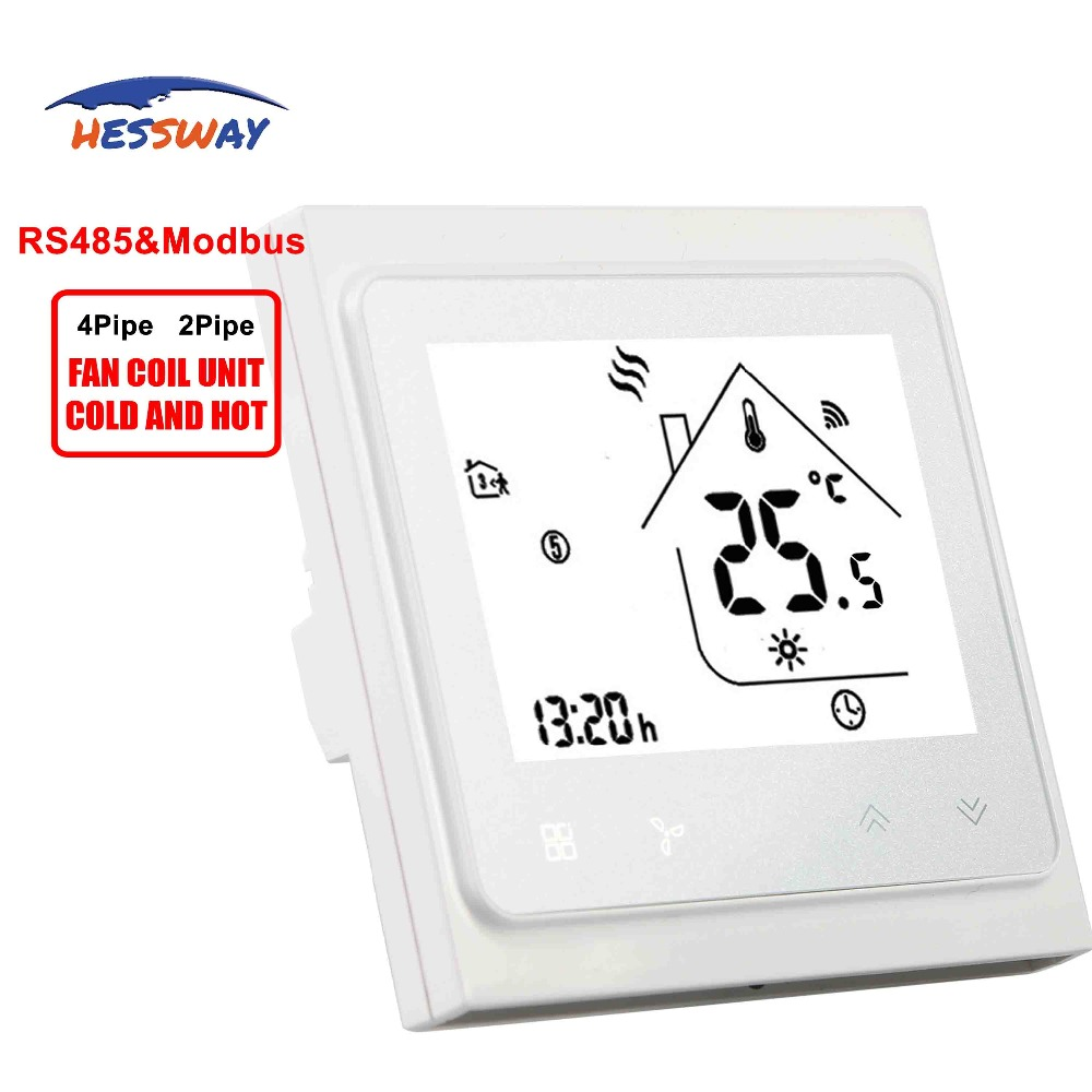 HESSWAY Fireproof 2 pipe Central air conditioning RS485 THERMOSTAT modbus rtu module for Valve switch