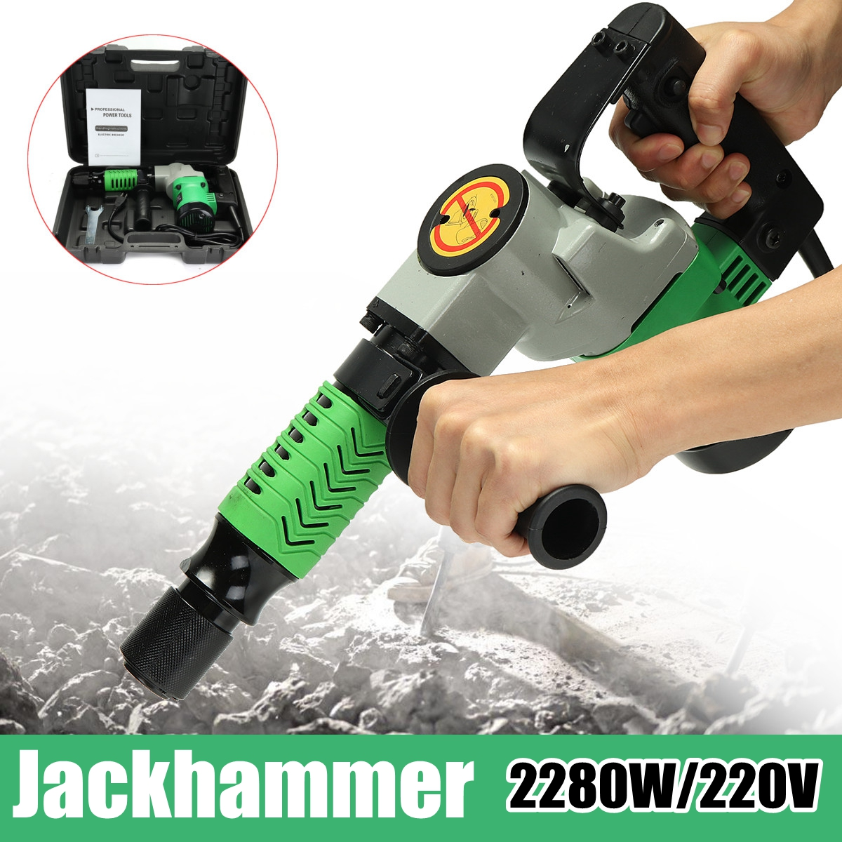 2280W 220V Electric Hammer Impact Drill Power Hammers Power Rotary Drill Household with Case dongcheng 220v 1010w electric impact drill darbeli matkap power drill stirring drilling 360 degree rotation power tools