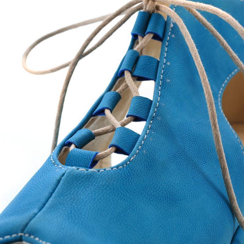 Lady Sandales ivoire Coins Plate Taille Éclat Sangle 34 Chaussures D'été 39 De Femmes Noir bleu Croix Sexy Office Cales Plage Jojonunu forme wxFIEfnt