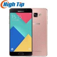 Оригинальный samsung Galaxy A5 2016 A5100 оригинальный разблокирована сотовые телефоны четырехъядерный процессор 5,0 дюйма 13 МП Камера 16 ГБ Dual Sim отремон...