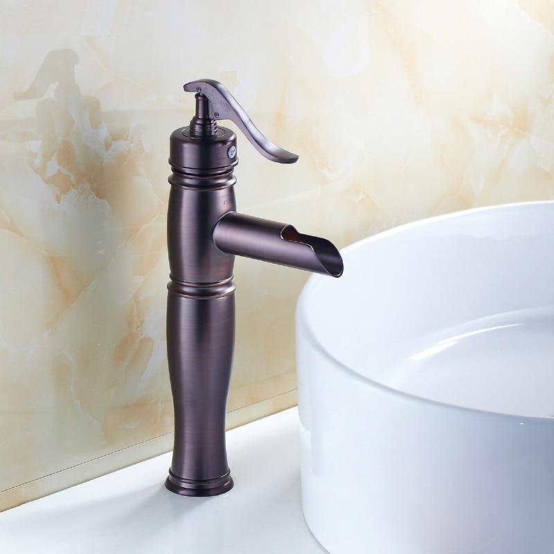 Copper antique sink basin faucet mixer tap, Oil Rubbed Bronze wash basin faucet purple red, Bathroom basin faucet hot and cold copper bathroom shelf basket soap dish copper storage holder silver