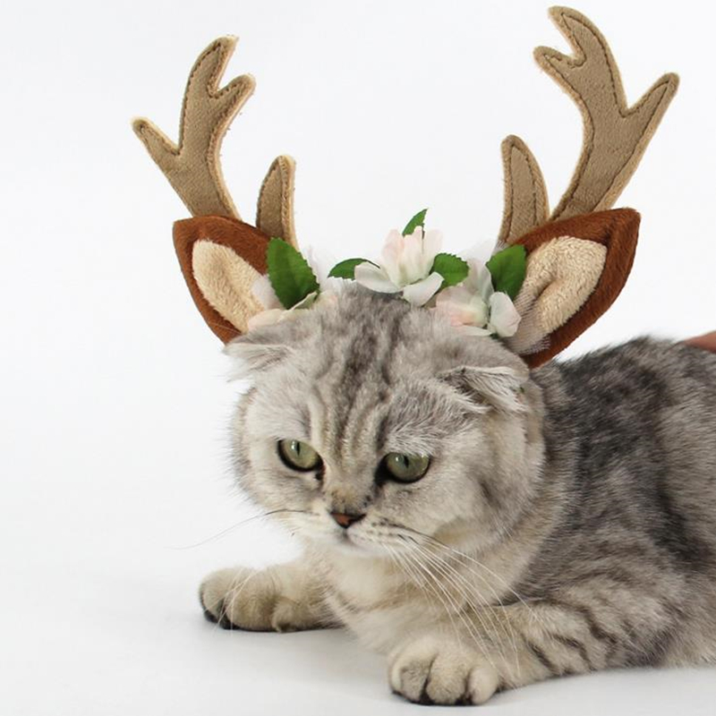 DoreenBeads Pet Hair Accessories Antlers Hairband Headband for Cats Puppy Large Dogs Cosplay Elk for Christmas Halloween Party 5