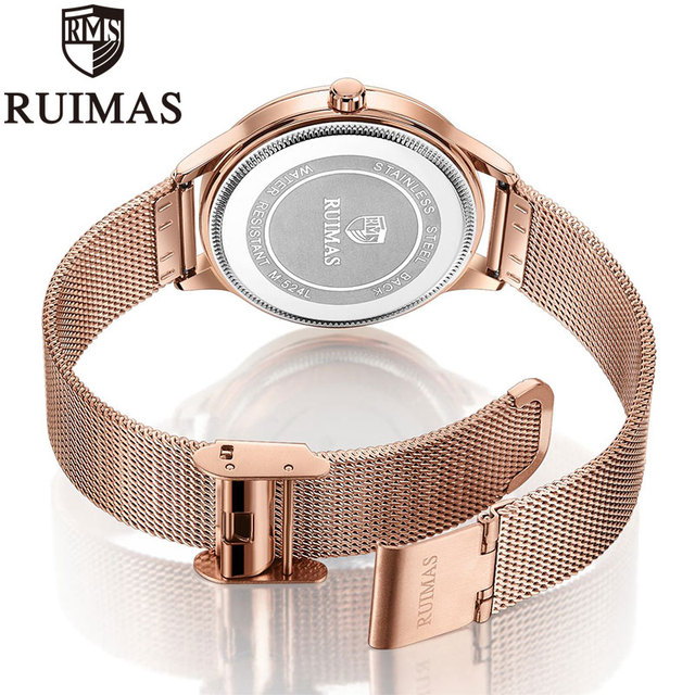 Ruimas Luxury Rose Gold Women Watches Minimalism