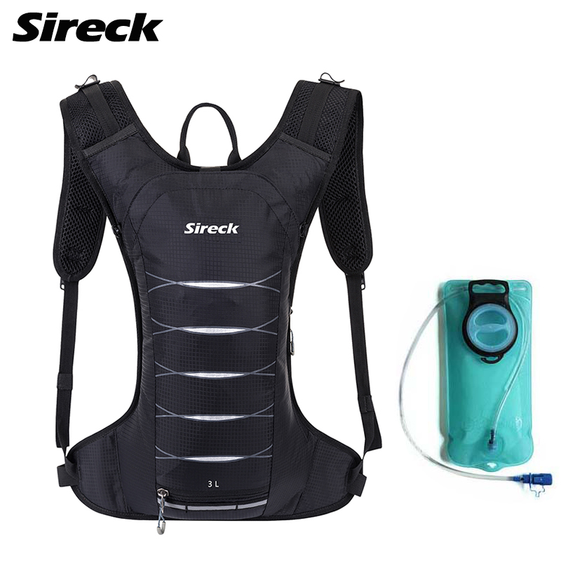 Sireck 3L Outdoor Sport Running Bag 2L Water Bladder Bag Nylon Running Marathon Hydration Vest Backpack Hiking Cycling Backpack aonijie outdoor water bag 1 5l 2l 3l for camping hiking climbing cycling running foldable peva sport hydration bladder