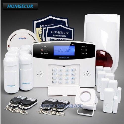 все цены на HOMSECUR Wireless 433Mhz GSM 850/900/1800/1900 SMS Autodial Burglar Alarm System with 6 Motion Detectors онлайн
