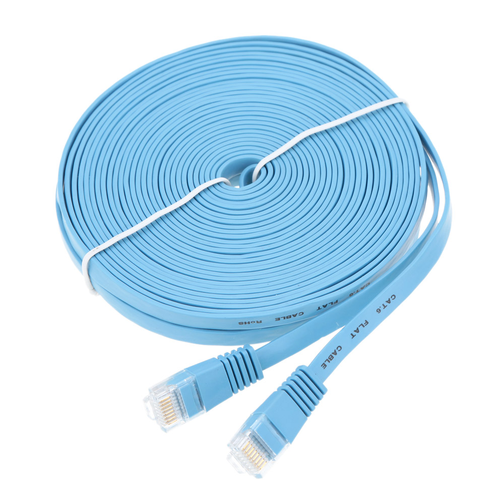 5X High Speed Cat6 Ethernet Flat Cable RJ45 Computer LAN Internet Network Cord