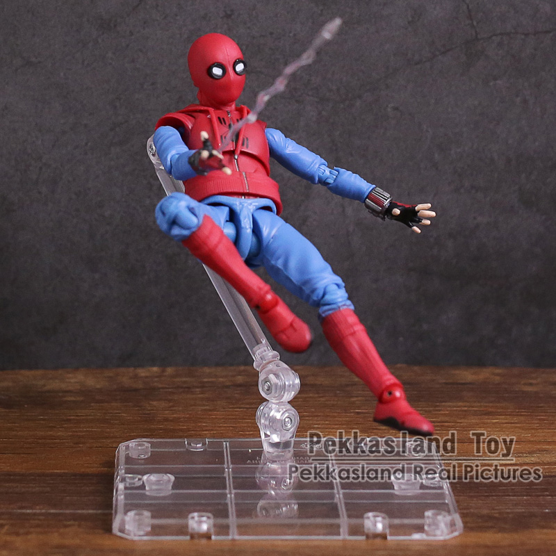 Spider Man Homecoming SHF S.H.Figuarts Spiderman Home Made Suit Ver. PVC Action Figure Collectible Model Toy 14cm