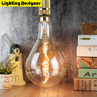 A160 Big Size Edison Bulb LED E27 Lamp 5W Light Amber Retro Saving Lamp Vintage Filament
