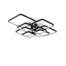 купить OKUDO Rectangle Modern LED ceiling lights for living room white aluminum bedroom ceiling lamp fixture remote control Dimming дешево